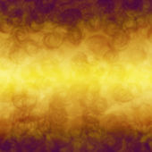 Duman bulutları ile altın metal arka plan — Stok fotoğraf
