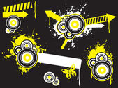 Abstract splash illustration collection — Vector de stock
