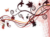 Beautiful autumn abstract background — Stock Vector