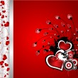 Beautiful floral Valentine´s day vector — Stock Vector #8782834