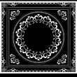 Royalty-Free Stock Vector Image: Decorative pattern frame for napkin