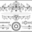 Black ornament border on white background — Vector de stock #12901820
