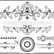 Black ornament border on white background — Stok Vektör #12901820