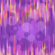 Shimmering curves and circles on a purple background — Imagens vectoriais em stock