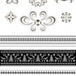 Ornaments and borders for page design — Stock Vector