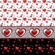Options seamless backgrounds with different hearts — Stock Vector #18332893