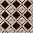 Delicate checkered seamless background with red pattern — Διανυσματικό Αρχείο