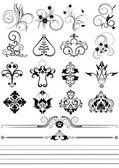 Coleção de ornamentos e escovas para desenho — Vetorial Stock