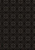Beige Openwork pattern on seamless dark brown background — Stock Vector