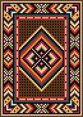 Diseño asiático en el marco de la alfombra. — Vector de stock