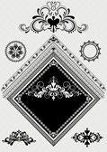 Výzdoba design s ornamenty pro úhel stránky — Stock vektor
