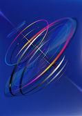 I cerchi luminosi mobili di spirale — Vettoriale Stock