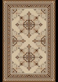 Light carpet with beige and brown shades — 图库矢量图片