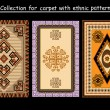 Collection for carpet with ethnic pattern — Imagen vectorial