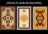 Collection for carpet with ethnic pattern — Stock Vector