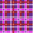 abigarrado fondo transparente púrpura oscuro con rayas blancas rojas y luz púrpuras — Vector de stock