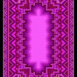 Refined oriental carpet in purple shades — Stockvektor