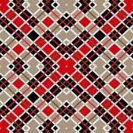 Motley rojos marrón cuadrados blancos sobre fondo transparente amarillento — Vector de stock