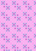 Crimson pink checkered background with blue and purple squares — Stock Vector