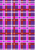 Gevlekt donkere paarse naadloze achtergrond met witte rode en licht paarse strepen — Stockvector