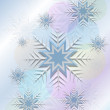 Flickering background with snowflakes and circle — Stock Vector #32150349
