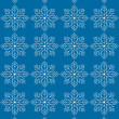 White snowflakes on a blue background.  — Stock Vector