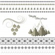 Patterns and borders on the Christmas theme — Stock Vector #36761271