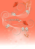 Card with flowers and butterflies to Valentine's Day. — Stock Vector