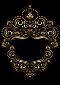 Decorative gold frame in oriental style. — Stock vektor