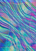 Wavy interlacing strips on iridescent background — Stock Photo
