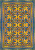 Pompous classic pattern for carpet — Vector de stock