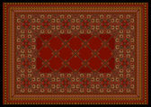 Luxurious ornament in red shades for classic carpet — Stockvektor