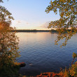 Decline on the lake in Karelia — Stock Photo