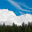 Clouds similar to mountains — Stock Photo