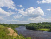Landscape with the rough river — Stockfoto