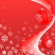 Royalty-Free Stock 矢量图片: Red christmas background with snowflakes and a copyspace.