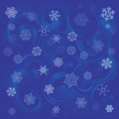 Dark blue Christmas background with snowflakes. — Stock Vector