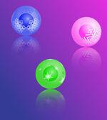 クリスマス ツリーのカラフルなボールのセット. — ストックベクタ