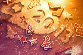 Happy new year 2013 message — Stock Photo