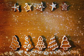 Homemade Christmas cookies with decoration — Stock Photo