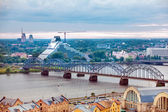Riga, Latvia, cityscape from Academy of Sciences — Stock Photo