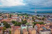 Riga, Latvia, cityscape from Academy of Sciences — Stock Photo