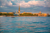 Panorama of Riga old city — Stock Photo