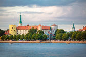 View of Riga Castle, St. Peter — Stock Photo