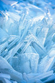 Formas de hielo marino cerca de la costa — Foto de Stock
