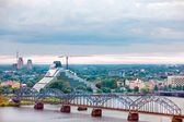 Riga, cityscape from Latvian Academy of Sciences — Stock Photo