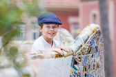 Cute little boy at Parc Guell, Barcelona — Stock Photo
