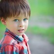 Close-up portrait of cheerful little boy — Stock Photo #38808785
