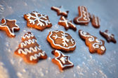 Christmas cookies with festive decoration — Stock Photo