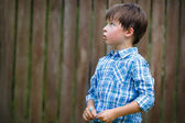 Close-up portrait of cute little boy — Stock Photo